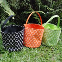 Wholesale Blanks Quatrefoil Halloween Bucket Microfiber Halloween Tote Gift Holder for Kids Via FedEx DOM106171