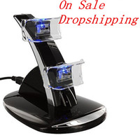 playstation games - LED Dual USB Charging Charger Dock Stand Cradle Docking Station for Sony Playstation PS4 Game Gaming Controller Dropshipping