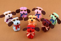 artificial dogs - gift towels animal towels Artificial dog creative present square towels gift box birthday