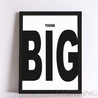 big poster frames - Quote Think Big Quote Canvas Art Print Poster Wall Pictures for Home Decoration Frame not include FA287
