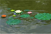 craft materials - 40cm Garden Home Decor Artificial Flower Lotus Leaf EVA Material Fish Tank Water Pool Decorations Green Plant Craft Ornament