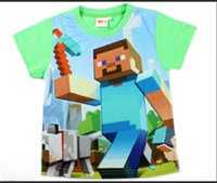 Wholesale Minecraft Creeper Game funny T shirt women men a t shirt short sleeve short sleeves BOYS cotton sweethearts outfit clothes C1553