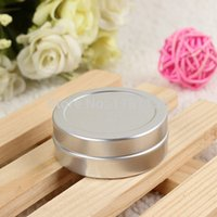 container - 10ml Silver Aluminum Empty Container Jar Bottles for Cream Metal Sample Container Lip Balm Container