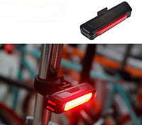 bicycles back pack - Waterproof Comet USB Rechargeable Bike Bicycle Light Rear Back Safety Cycling Tail Light Mountain Bike Headlight Light Pack