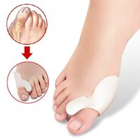 Wholesale 1 Pair Of Hot Sale Toe Separators Gel Orthotics Stretchers Straightener Hallux Valgus Bunion Foot Tool