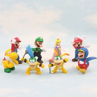 Wholesale 8pcs Set Super Mario Bros And Koopalings Figures Toys Doll Style Play Super Mario Game Character Collection Toy Plastic Game Anime SM0097