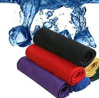Wholesale Newest x88mm Creative Cold Towel Exercise Sweat Summer Ice Towel Sports Ice Cool Towel PVA Hypothermia Cooling Towel