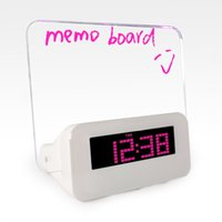 glass table clock - LED Alarm Clock Upgrade LED Alarm Clock despertador Temperature Control LED display electronic desktop Digital table clocks