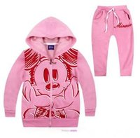 athletic clothes - Childrens Autumn Athletic Cotton Long Sleeve Set Kids Casual Clothes Cartoon Hooded Jacket And Pants