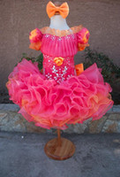 Wholesale Christmas Bows For Sale Cheap - Pageant Dresses For Girls 2016 Sequins Crystal Cheap Formal Stunning Little Kids Birthday Party Gowns Hot Sale Custom Made