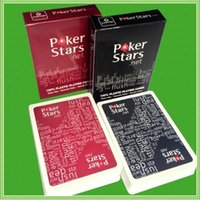 Wholesale 2PC Poker Red And Black Colors Texas Plastic Cards New Poker Stars Frosted Plastic Cards