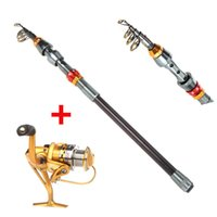 Wholesale Carbon Fiber M FT Portable Telescope Fishing Rod Travel Spinning Fishing Pole BB Fishing Spinning Reel Pesca