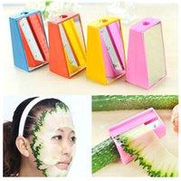 Wholesale 6PCS Vegetable spiralizer cutter slicer Pencil sharpener cucumber slicer Fun DIY Beauty cucumber mask Beauty chippers
