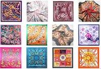 Wholesale style color cm Imitation silk scarves scarf flower
