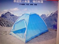 Wholesale Outdoor camping lovers single tier double the door hiking beach tent
