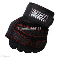 adjustable dumbell weights - Pair Weight Lifting Gloves Barbell Dumbell Cycling sport gloves skid resistance adjustable support Fitness Workout JF