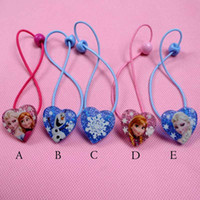 Cheap Hairbands Frozen Hair rope Best Plastic Character children Hair rope