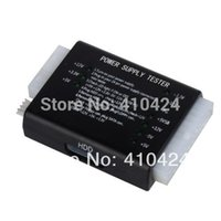 Wholesale NEW PC Computer Pin Power Supply Tester With PSU ATX SATA HDD Connectors