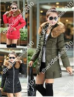 Wholesale New Arrival Parkas For Women Winter SlimThick Fur Collar Long Down Jacket Plus Size Jaqueta Feminina NVQ07