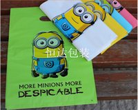 Wholesale Hot Cartoon Minions Frozen Hello Kitty Mickey Loot Bags Box Plastic Shopping Souvenir Bag Packing Package Party Decoration Christmas Gifts