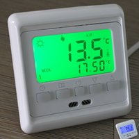 Wholesale Brand New LCD Touch Screen Programmable Underfloor Heating Button Control Room Temperature Thermostat Controller order lt no track