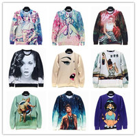 Wholesale Funny Womens Characters Doctor Who Print Men s Crewnecks D Hoodies Sweatshirts Long Sleeve Outerwear Pullovers