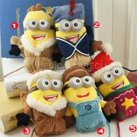Wholesale Boys Girls Xmas Gift D Winter Warm Kids Children Cartoon Minions Mittens Gloves Cotton Glovers