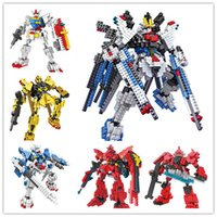 gundam - LOZ New MOBILE SUIT GUNDAM Building Blocks small particles assembled fight inserted Bricks Educational DIY Children Toys Gift HX