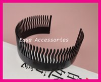 Wholesale 10PCS teeth cm heigth cm length Black Full Teeth Flexible Plastic Side Combs teethed comb headbands Bargain for Bulk
