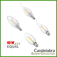 COB candelabras - 6Pcs E26 E12 E14 Dimmable V V Base Watt Watt W Vintage LED Filament Candelabra lm w K C35 C35T with bent tip available