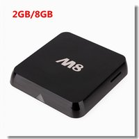 Wholesale M8 Amlogic S802 TV Box Quad Octa Core Cortex A9 XBMC Android K KitKat HDMI G G Dual Mali WiFi Smart Media Player Mini PC HD IPTV