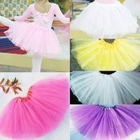 Wholesale Cheap Childrens Clothes Wholesale - Cheap Hot Sales Baby Girls Childrens Kids Dance Clothing Tutu Skirt Pettiskirt Dancewear Ballet Dress Fancy Skirts Costume Free Shipping