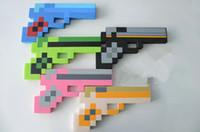 hot toys figure - Hot minecraft Foam Diamond Pixelated Gun Weapons EVA My world Creeper boys girls kids toys figures Christmas gifts CM styles MF014