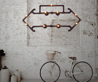 Wholesale Retro Water Pipe Wall Lamps LOFT Industrial Creative Art Arrow Wall Light Cafes Bars Vintage Iron Wall Lamp