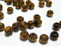 Wholesale 2000 Natural Pattern Round Wood Beads Wooden mm for jewelry accessories necklace pendant bracelet diy handmade craft
