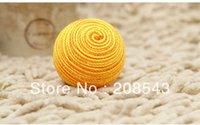 Wholesale Cat Toys Quality Hand Woven Cotton Rope Abrasion Resistant Tri Color Ball Bite Resistant Grip Pets Favorites