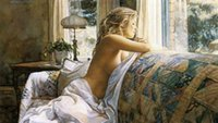 Cheap oil painting Best lady sofa