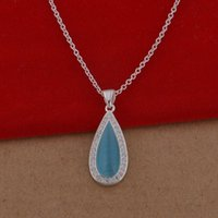 Cheap Trade jewelry wholesale 925 sterling silver necklaces Korean pop crystal necklace drops a lot of cash