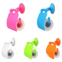 Wholesale Plastic Colorful Toilet Roll Paper Holder Wall Mounted Convenient Tissue Cover Storage Box Home Room Decor