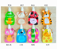 Wholesale 2015 trendy animal shape foldable collapsible ml water bottle FDA APPROVED