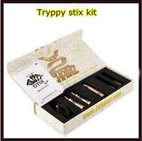 Cheap Gold Trippy Stix 2.0 Kit 4 IN 1 e cigarette Kits for Wax Dry Herb Solid Oil with 2 kinds of Wax Dry Herb Vaporizer pen e cig high quality