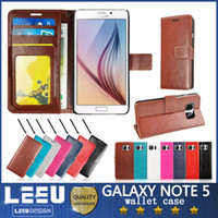 Wholesale For galaxy note case s7 edge s6 edge plus pu leather wallet case iphone plus s plus photo frame slot credit card pokect