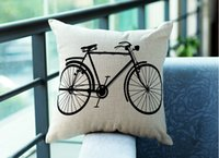 bicycle trade - Foreign trade cotton and linen pillow personality printing back cushion sofa cushion for leaning on bicycles