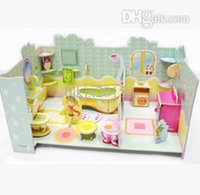 bathroom designer paper - Sale D three dimensional puzzle bathroom paper model Designers toys for children brinquedos kids educativo