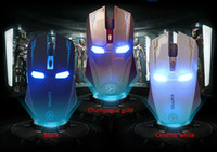 adjustable laptop - New Iron Man Mouse Wireless Mouse Gaming Mouse gamer Mute Button Silent Click DPI Adjustable computer mice