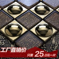 Wholesale Jasmine Continental plating gold glass mosaic tile wall TV wall stickers bathroom entrance
