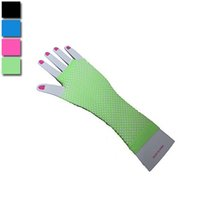 Wholesale Wholesales Fantastic Hot Fishnet Sexy Gloves Fingerless Long Women Costume Party Dance Gloves Nightclub Gloves Free Size YS0042 Smileseller