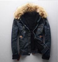Where to Buy Denim Jacket Fur Collar Men Online? Where Can I Buy ...