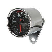 Wholesale Universal Motorcycle Speedometer Odometer Gauge ATV Bike Scooter Backlit Dual Speed meter with LED Indicator DC V km h