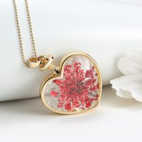 aromatic beads - Lady Dried Flower Locket Heart Glass Bottle Pendant Necklace Sweater Jewelrys Excellent Aromatic Long Crystal Necklace Fit cm Beads Chain